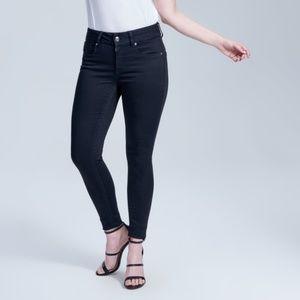 Seven7 Jeans - Seven7 Tummyless skinny jeans black rinse control
